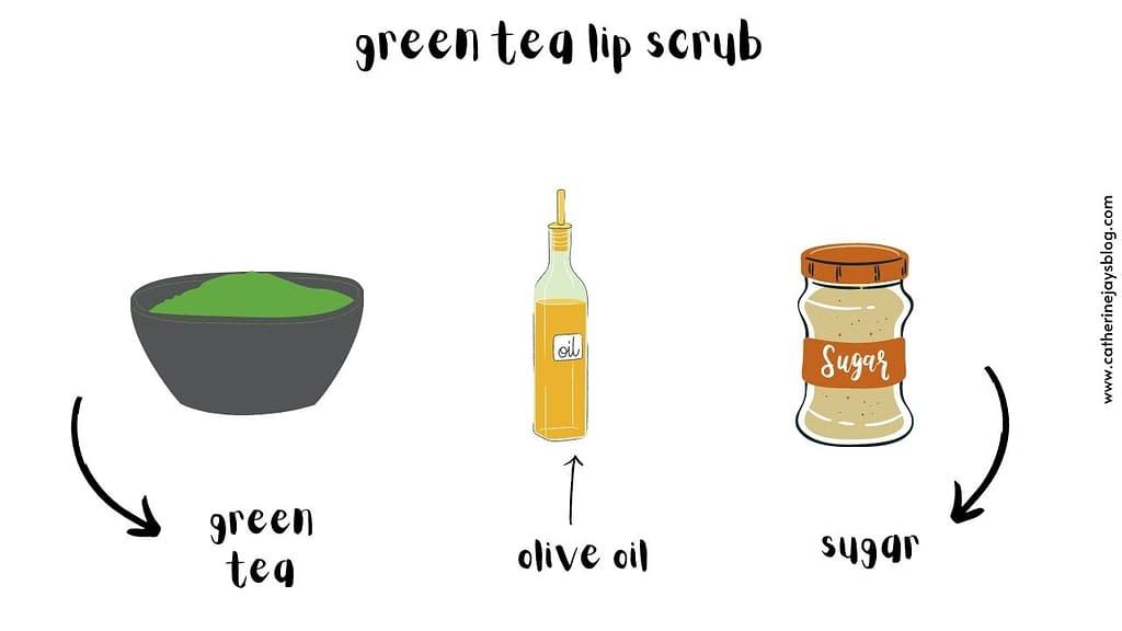 green tea lip scrub