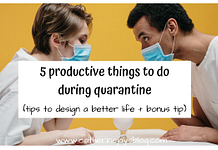 thins to do during quarantine